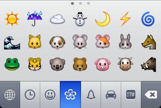 iPhone Emoji Icon Keyboard