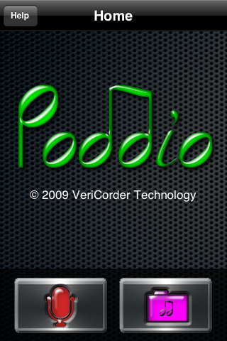 Poddio Home Screen