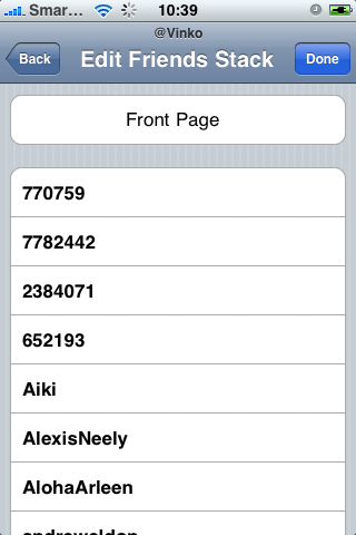TweetStack Edit Stack