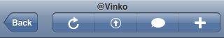 TweetStack Navigation Bar