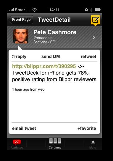 TweetDeck Tweet Details