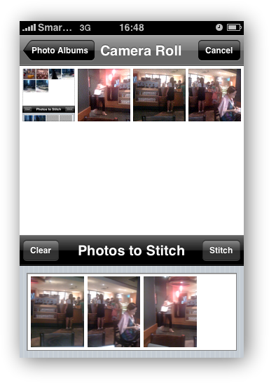 AutoStich Select Photos