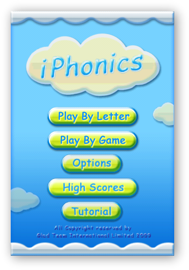 iPhonics - Home Screen