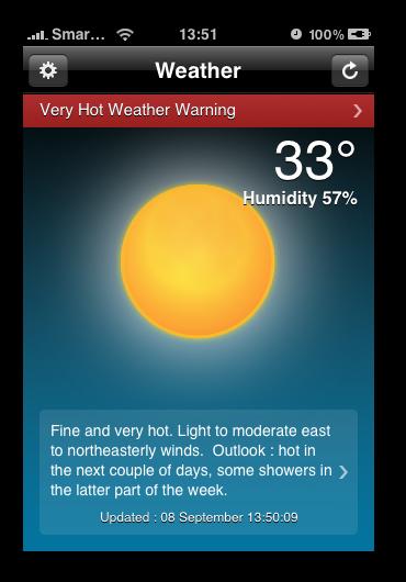 HK Weather - Home Screen