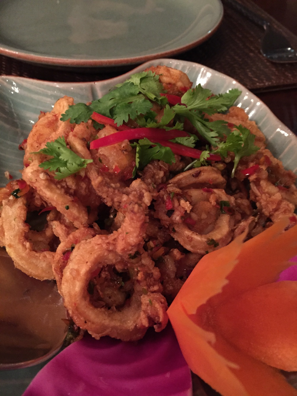 Fried Chilli Squid with Salt and Pepperoo